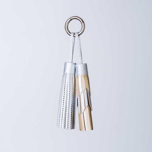 metallic tassels x2