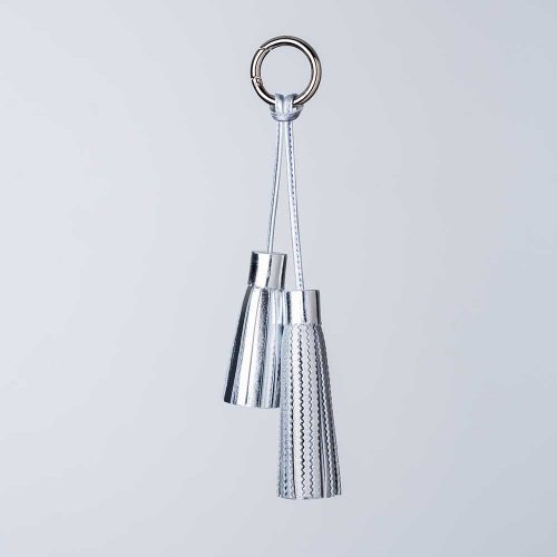 metallic double tassel